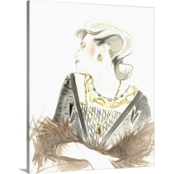 Large Gallery-Wrapped Canvas Wall Art Print 16 x 20 entitled Runway Fashion IV