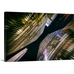 Large Gallery-Wrapped Canvas Wall Art Print 30 x 20 entitled Twin highrises in New York City