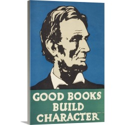 Large Solid-Faced Canvas Print Wall Art Print 20 x 30 entitled Religious Book Week, Good Books Build Character