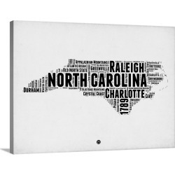 Large Gallery-Wrapped Canvas Wall Art Print 24 x 18 entitled North Carolina Word Cloud II found on Bargain Bro India from Great Big Canvas - Dynamic for $184.99
