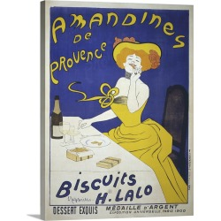 Large Gallery-Wrapped Canvas Wall Art Print 17 x 24 entitled Amandines De Provence Poster By Leonetto Cappiello found on Bargain Bro India from Great Big Canvas - Dynamic for $179.99