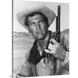 Large Gallery-Wrapped Canvas Wall Art Print 18 x 20 entitled Paul Newman in The Left Handed Gun - Vintage Publicity Photo found on Bargain Bro India from Great Big Canvas - Dynamic for $204.99