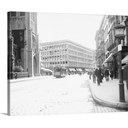 Large Solid-Faced Canvas Print Wall Art Print 30 x 24 entitled Wanamaker's Department Store