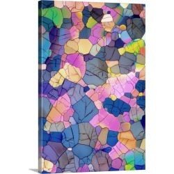 Large Solid-Faced Canvas Print Wall Art Print 20 x 30 entitled Caffeine crystals, light micrograph