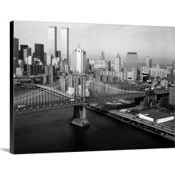 Large Solid-Faced Canvas Print Wall Art Print 24 x 18 entitled A view of the Manhattan Bridge, looking towards Manhattan, ... found on Bargain Bro India from Great Big Canvas - Dynamic for $134.99