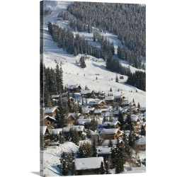 Large Gallery-Wrapped Canvas Wall Art Print 16 x 24 entitled Switzerland, Wallis, Valais, Verbier: Ski Resort, Winter Ski ... found on Bargain Bro India from Great Big Canvas - Dynamic for $214.99