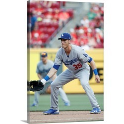 Large Gallery-Wrapped Canvas Wall Art Print 16 x 24 entitled Los Angeles Dodgers vs. Cincinnati Reds