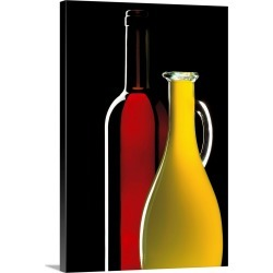 Large Gallery-Wrapped Canvas Wall Art Print 16 x 24 entitled Red wine and olive oil found on Bargain Bro India from Great Big Canvas - Dynamic for $224.99