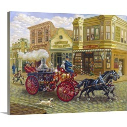Large Solid-Faced Canvas Print Wall Art Print 30 x 24 entitled Fire Truck found on Bargain Bro Philippines from Great Big Canvas for $214.99