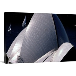 Large Gallery-Wrapped Canvas Wall Art Print 30 x 20 entitled An elevated exterior view of the Sydney Opera House in Australia
