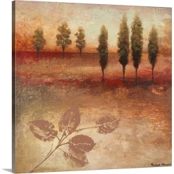 Large Solid-Faced Canvas Print Wall Art Print 20 x 20 entitled Warm Textural Landscape II