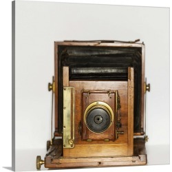 Large Solid-Faced Canvas Print Wall Art Print 20 x 20 entitled An antique camera
