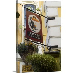 Large Solid-Faced Canvas Print Wall Art Print 20 x 30 entitled Temple Bar, Dublin