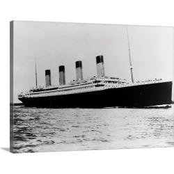 Large Gallery-Wrapped Canvas Wall Art Print 24 x 18 entitled The Titanic Sails On The Ocean found on Bargain Bro India from Great Big Canvas - Dynamic for $224.99