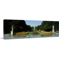 Large Solid-Faced Canvas Print Wall Art Print 48 x 16 entitled Ogrod Saski Park Warsaw Poland