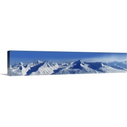 Large Gallery-Wrapped Canvas Wall Art Print 72 x 14 entitled Valdez, Alaska, mountain panorama