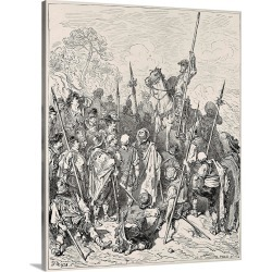 Large Gallery-Wrapped Canvas Wall Art Print 16 x 20 entitled Don Quixote. 1863. Illustration of Cervantes book by Paul Gus... found on Bargain Bro India from Great Big Canvas - Dynamic for $189.99