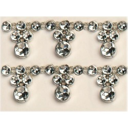 Decostar  Drop Rhinestone Trimming - 12 Packs of 10 Yards