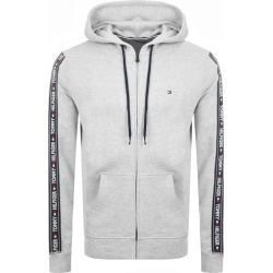Tommy Hilfiger Lounge Taped Logo Zip Hoodie Grey found on Bargain Bro from Mainline Menswear for £65