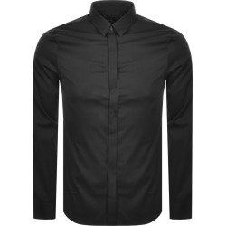 Armani Exchange Long Sleeved Slim Fit Shirt Black found on Bargain Bro UK from Mainline Menswear