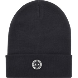 Armani Exchange logo Beanie Hat Navy found on Bargain Bro UK from Mainline Menswear