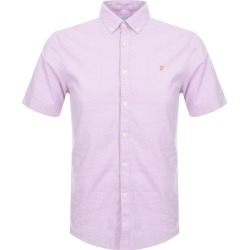 Farah Vintage Short Sleeved Steen Slim Shirt Pink found on Bargain Bro UK from Mainline Menswear
