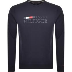 Tommy Hilfiger Logo Sweatshirt Navy found on Bargain Bro from Mainline Menswear for £68