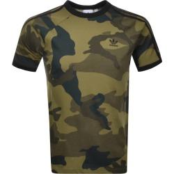Adidas Originals Camouflage 3 Stripe T Shirt Khaki found on MODAPINS from Mainline Menswear Australia for USD $31.30