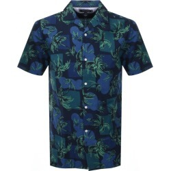 Tommy Hilfiger Short Sleeved Palm Tree Shirt Navy found on Bargain Bro from Mainline Menswear for £42
