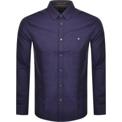 Ted Baker Long Sleeved Yesway Oxford Shirt Navy found on Bargain Bro UK from Mainline Menswear