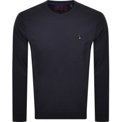 Ted Baker Singer Crew Neck Sweatshirt Navy found on Bargain Bro UK from Mainline Menswear