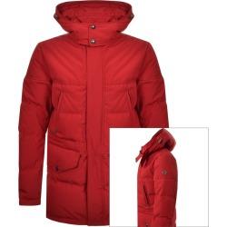Belstaff Traverse Parka Down Jacket Red found on Bargain Bro UK from Mainline Menswear