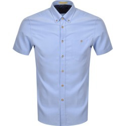 Ted Baker Yasai Oxford Short Sleeved Shirt Blue found on Bargain Bro UK from Mainline Menswear