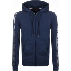 Tommy Hilfiger Lounge Taped Logo Zip Hoodie Navy found on Bargain Bro from Mainline Menswear for £65