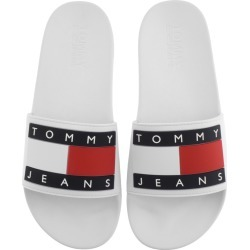 Tommy Jeans Flag Pool Sliders White found on Bargain Bro UK from Mainline Menswear