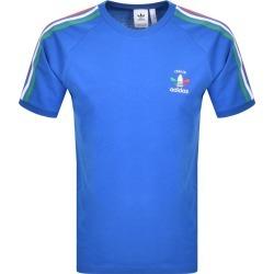 Adidas Originals 3 Stripe Italia T Shirt Blue found on MODAPINS from Mainline Menswear Australia for USD $38.10