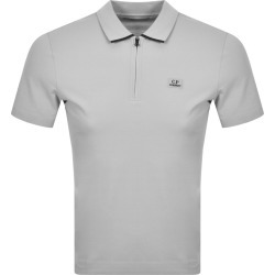 CP Company Logo Short Sleeved Polo Grey found on MODAPINS from Mainline Menswear Australia for USD $129.24