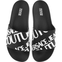 Versace Jeans Couture Logo Sliders Black found on Bargain Bro UK from Mainline Menswear
