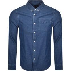 Superdry Denim Long Sleeved Shirt Blue found on Bargain Bro UK from Mainline Menswear