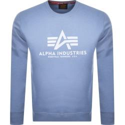 Alpha Industries Basic Sweatshirt Blue found on MODAPINS from Mainline Menswear Australia for USD $84.15