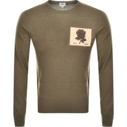 Kent And Curwen Fleet Knit Jumper Green found on MODAPINS from Mainline Menswear Australia for USD $253.79