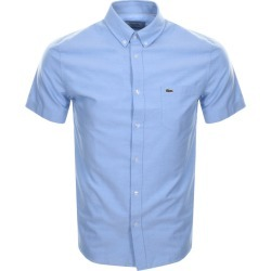 Lacoste Short Sleeved Oxford Shirt Blue found on Bargain Bro UK from Mainline Menswear