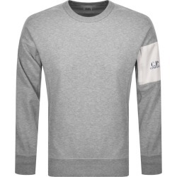 CP Company Crew Neck Sweatshirt Grey found on MODAPINS from Mainline Menswear Australia for USD $213.25
