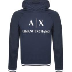 Armani Exchange Logo Hoodie Navy found on MODAPINS from Mainline Menswear Australia for USD $159.22
