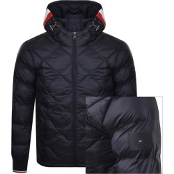 Tommy Hilfiger Padded Hooded Jacket Navy found on Bargain Bro UK from Mainline Menswear