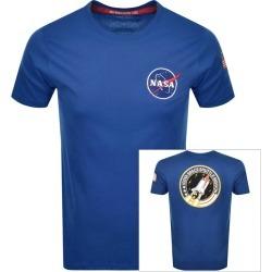 Alpha Industries Space Shuttle Logo T Shirt Blue found on MODAPINS from Mainline Menswear Australia for USD $63.11