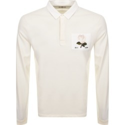 Kent And Curwen Rudgy Long Sleeved Polo Cream found on MODAPINS from Mainline Menswear Australia for USD $142.17