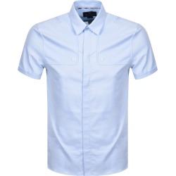 Aquascutum Batley Short Sleeve Shirt Blue found on MODAPINS from Mainline Menswear Australia for USD $177.38