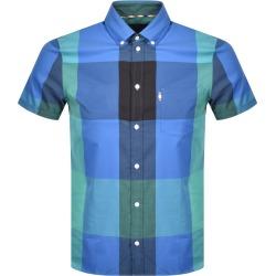 Aquascutum Henlake Check Short Sleeve Shirt Blue found on MODAPINS from Mainline Menswear Australia for USD $165.59