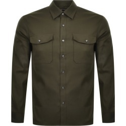 Michael Kors Slim Fit Long Sleeved Shirt Green found on Bargain Bro UK from Mainline Menswear